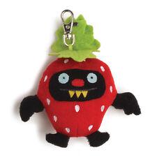 NWT UglyDoll Ugly Fruits-Ninja Batty Strawberry Plush Clip On Toy