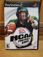 NCAA Football 2003 (Sony PlayStation 2, 2002) Original Game & Case W/ Insert