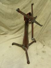 Vtg Antique Industrial Steampunk Cast Iron Adjustable Drafting Table Base (A95)