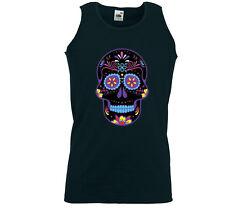 Mexican Tank Top muscular camisa Neon Sugar Skull rockabilly Biker