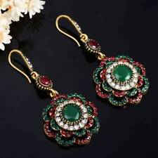 Drop Earrings Ethnic Long Clip Crystal Vintage Party Cuff Wedding Earrings Women