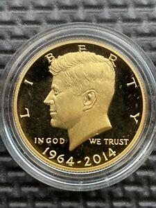 2014-W 50th Anniversary Gold Kennedy Half Dollar 3/4 Troy Oz .9999 Fine Gold
