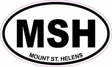 Mount St.Helens Volcano Oval Vinyl Sticker Decal 5x3