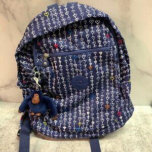 KIPLING Challenger Backpack Threaded Hearts Navy
