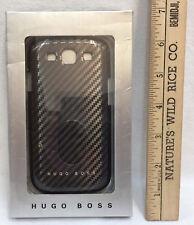Samsung Galaxy S3 Phone Case Cover Hugo Boss Hard Snap On Black Carbon Metallic