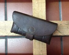 1939 Swiss Army Military Ammo Cartridge Pouch Belt Leather Vintage