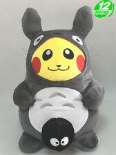 Big 12'' 30CM Pikachu Totoro Plush Pokemon Stuffed Doll Toy Game Soft PNPL1282