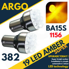 2 x ULTRA BRIGHT 19 LED AMBER 382 P21W BA15S 1156 ORANGE REAR INDICATOR BULBS