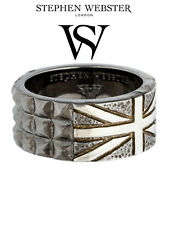 Stephen Webster Alchemy in the UK Yellow Gold Plated Silver and Onyx Band Ring