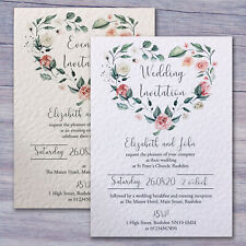 10 Personalised Wedding Invitations /  Evening Invites with Envelopes & Free P&P