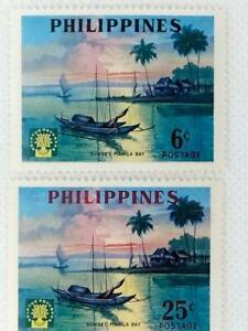 Philippines 1960 World Refugee Year. 2 stamp set MH