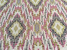 Clarke & Clarke Printed Dot Diamond Velvet Uphol Fabric Mosaic Raspberry 1.75 yd