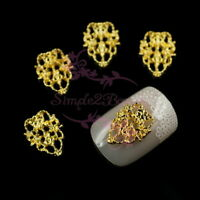 100 Metal Alloy Charms Hollow Out Style Lace Design 3D Acrylic Nail Art Manicure
