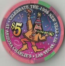 LAS VEGAS ARIZONA CHARLIE'S  $5 1998 NEW YEAR CHIP