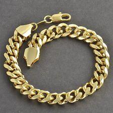 Bracelet pour homme maille gourmette douce large et épaisse dorée neuve.