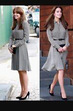 New RALPH LAUREN BLACK LABEL HOUNDSTOOTH AUSTIN SHIRT DRESS USA 6 Aso Royal