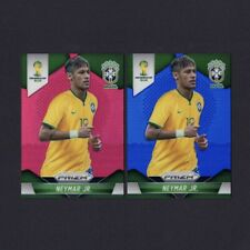 NEYMAR JR 2014 Panini Prizm World Cup Soccer Blue & Red Prizm Holo Refractor RC
