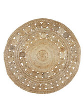 GRANDE Rotondo Tappeto Iuta CERCHI | decorativi, Rustico, Boho, Designer