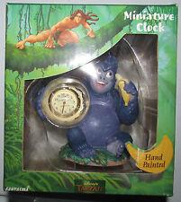 Disney Tarzan Terk Hand Painted Miniature Clock by Fantasmo NEW