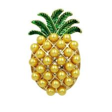 Pineapple - Free Uk P&P Cg2992.Gold Plated Brooch Of A