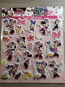 Disney Junior - Minnie 3D Schaumstoff-Glitzersticker (Foam Sticker) 22 Stück