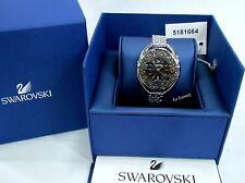 Swarovski Crystalline Oval Black Bracelet Watch, Swiss quartz Authentic 5181664