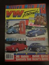VW Trends Magazine November 1987 European Vacation Nationals (P)