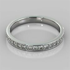 Pave 0.50 Cts Round Brilliant Cut Natural Diamonds Band Ring In Fine 14K Gold