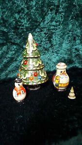 Genuine Russian handpainted vintage christmas nesting set