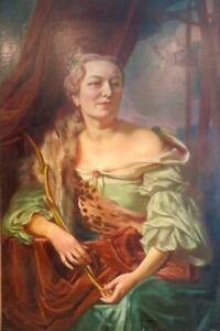 GIORGIO MATTEO AICARDI (1891-1984) Italian COUNTRY HOUSE oil PORTRAIT OF A LADY