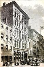 Boston Massacusetts - RICE KENDALL and CO.  Paper Warehouse -  1873 Art Matted