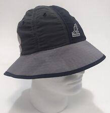 Kangol Bucket Hat Sun Casual Color Block Black Grey Outdoors Golf Size S Euc