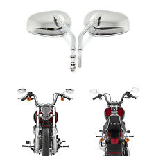 MOTORCYCLE PARTS REARVIEW CUSTOM MIRRORS CHROME FOR HARLEY IRON 883 1200 CUSTOM