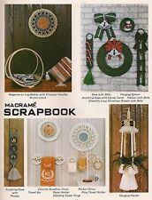 Plant Hanger, Log Holder & Holiday Patterns Craft Book:#Pd1151 Macrame Scrapbook