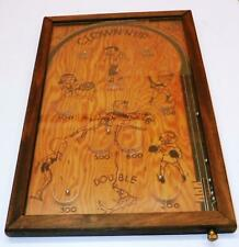 "1933 ""Clown-N-Up"" Wooden Wall-Mount Bagatelle Pinball Game:Northwestern Mail Box"