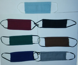 Masque protection tissu lavable coton réutilisable AFNOR ADULTE/ ENFANT France