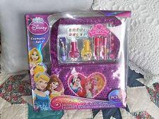 Disney Princess 19 Pcs Cosmetic Set Press-on Nails Lip Gloss Tote File Polish