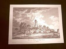Veduta Rovine del Tempio di Ercole ad Agrigento Sicilia Litografia Saint-Non