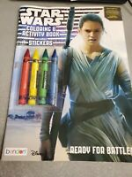 New Star Wars The Force Awakens Disney Coloring & Activity Book Set with Sticker