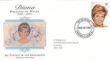 (02044) St Vincent & Grenadines FDC Princess Diana Death 26 Nov 1997