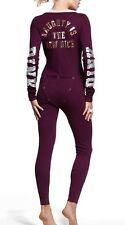 Victorias Secret Pink Bling NAUGHTY Thermal One Piece Pajamas Long Jane NWT S