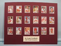 St. Louis Cardinals led by Bob Gibson & Lou Brock are 1967 World Series Champs