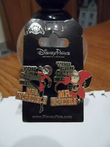 The Incredibles - Mr & Mrs Incredible BRAND NEW Disney Trading Pins BUY NOW!