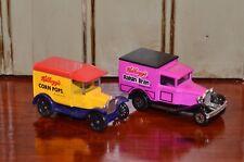 1989 Matchbox Kellogg's Ford Model A & T Corn Pops Raisin Bran Delivery Trucks