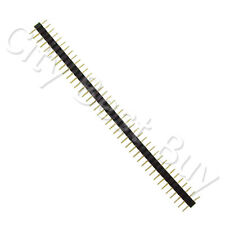 30 Male Black 40 Round Pins PCB Single Row 2.54mm Pitch Spacing Header Strip