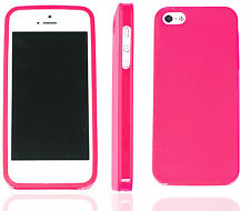 Apple iPhone 5 TPU Colourful Case Jelly Silicone Cover Gift