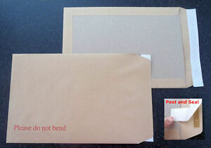 Board Backed Envelopes 'DO NOT BEND' A6 / C6 - A5 / C5 - A4 / C4  Multi Listing
