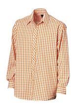 HEINE Hemd Herrenhemd Shirt Gr. 39 40 43 44 Vichyhemd orange Neu 12671