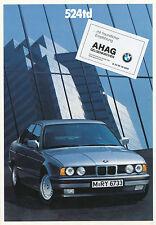 BMW 524td E34 Prospekt 1/89 (D) Prospekt brochure prospectus broschyr 5er