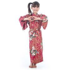 8 años To 9 Algodón Rojo Japonés NIÑA KIMONO
